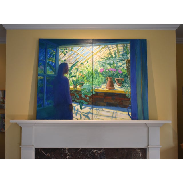 "Contemporary Large Painting, ""The Greenhouse"", by Stephen Remick For Sale - Image 12 of 13"
