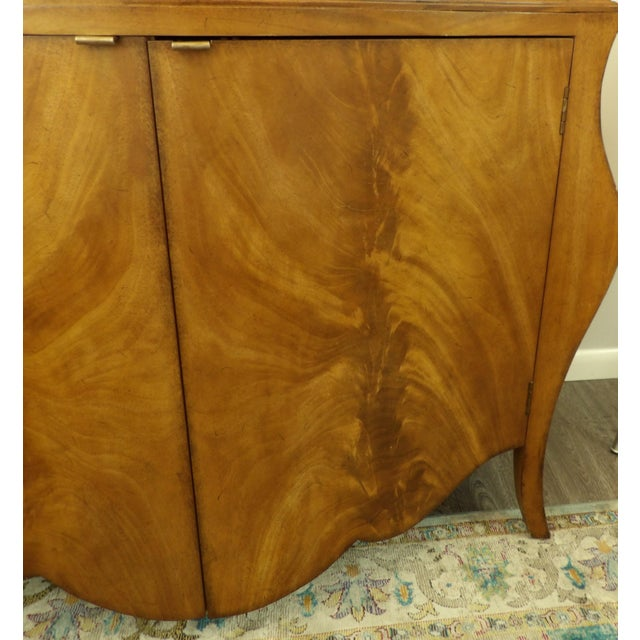 French Provincial Vintage Bombay Burl Wood Chest/Cabinet For Sale - Image 3 of 8