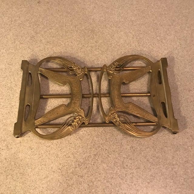 1920s Art Nouveau Brass Expandable Book Rack - Image 9 of 10