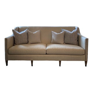 Updated Classic High Back Sofa For Sale