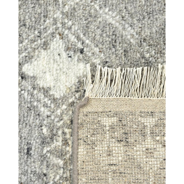 Vinay, Bohemian Moroccan Hand Knotted Area Rug, Gray, 5 X 8 For Sale - Image 4 of 9