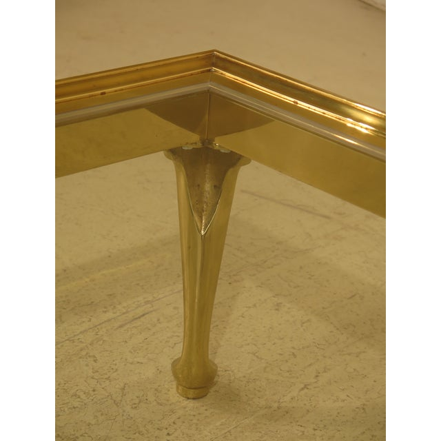 LaBarge Brass & Glass Coffee or Cocktail Table For Sale - Image 12 of 13
