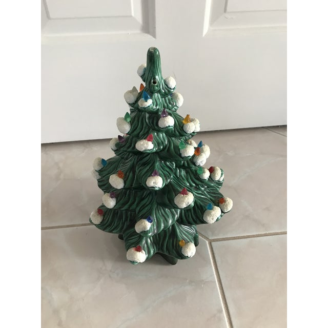 Step into Christmas with this vintage piece! This tree has a musical  feature, however. Americana Vintage Green Light Up Ceramic ... - Vintage Green Light Up Ceramic Christmas Tree Chairish
