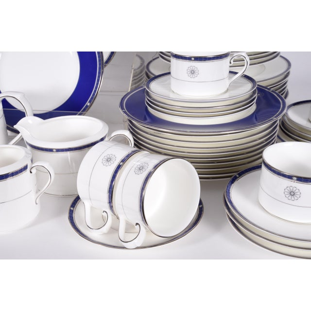 1980s Wedgwood English Porcelain Dinnerware Service for Ten People - 83 Pc. Set For Sale - Image 5 of 13