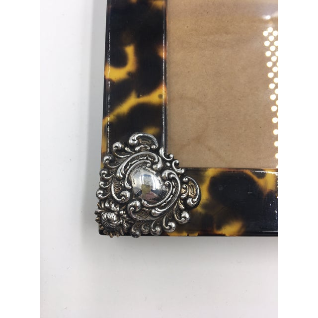 Metal Contemporary Linda Levinson Faux Tortoise Photo Frame For Sale - Image 7 of 9