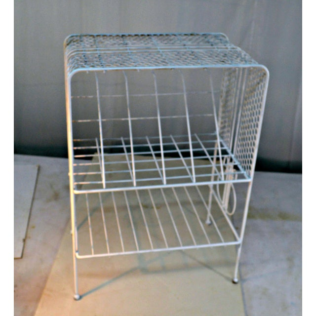 1960s Vintage Metal Music or Magazine Stand For Sale - Image 4 of 9