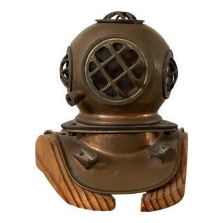 1960s Brass Diving Helmet Sculpture For Sale