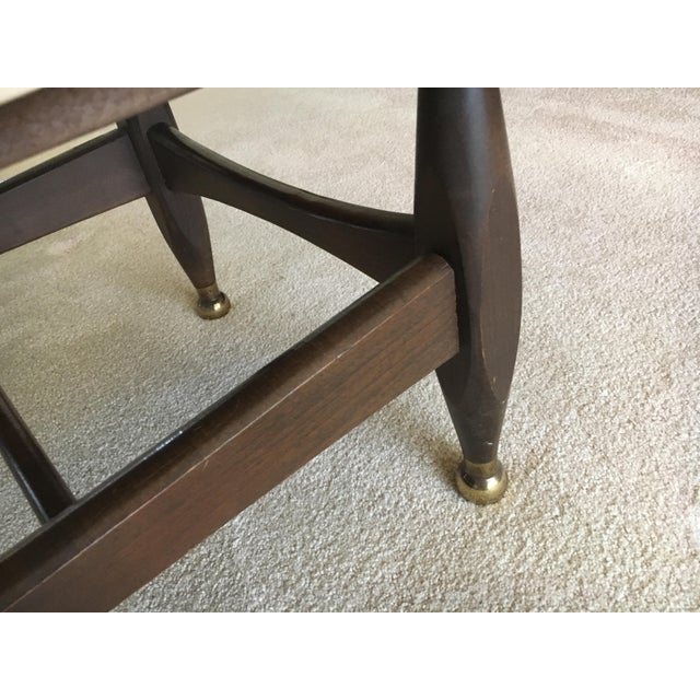 Mid-Century Marble Top Coffee Table - Image 7 of 8