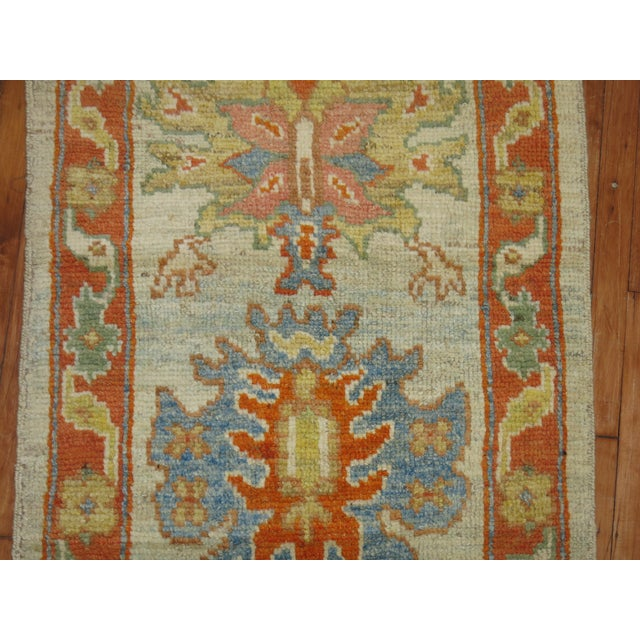Vintage Turkish Oushak Runner - 2'9'' X 13'5'' - Image 3 of 6