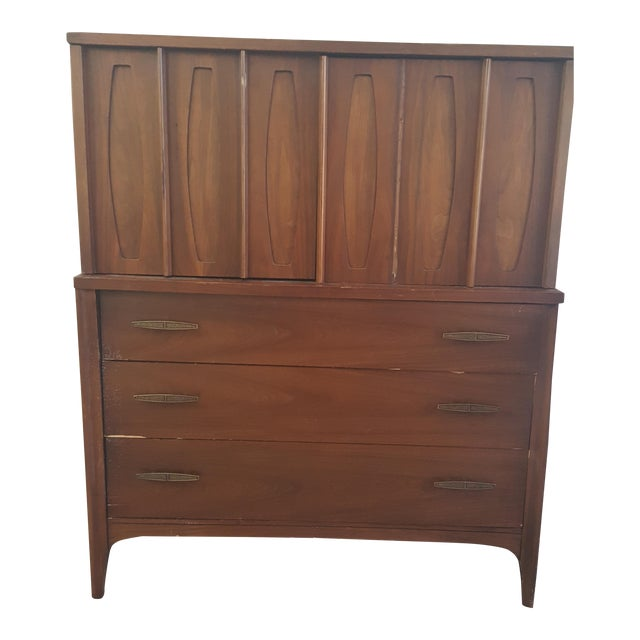 Mid-Century Style Chestnut Dresser - Image 1 of 5