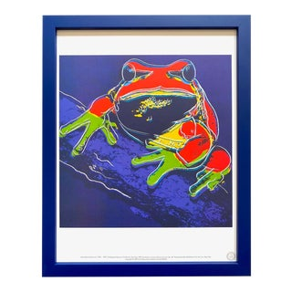 "Andy Warhol Estate Vintage 1989 Endangered Species Framed Lithograph Print "" Pine Barrens Tree Frog "" 1983 For Sale"