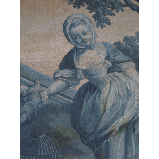 French Provincial 18th Century French Grisaille Painting For Sale - Image 3 of 8