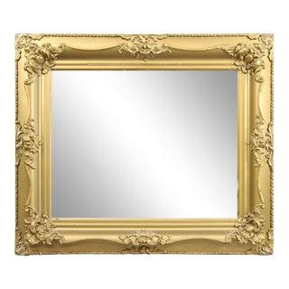 Antique Victorian Sculpted Foliate Gold Gilt Wall Mirror Circa 1890 For Sale