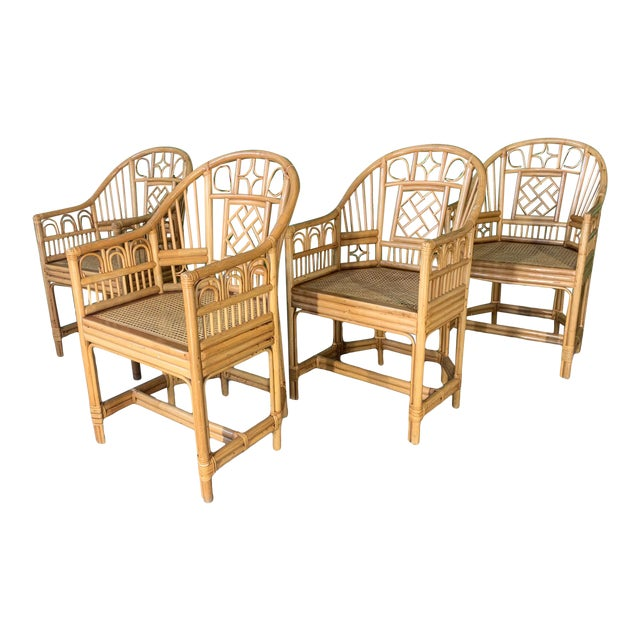 Brighton Pavillion Style Dining Chairs - Set of 4 For Sale