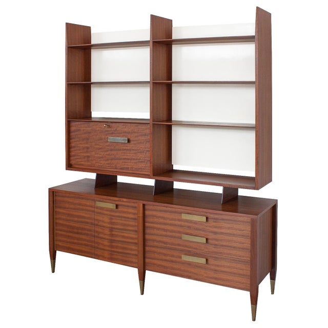 Gio Ponti for Singer & Sons Model 4120 Walnut Display Cabinet - Image 2 of 11