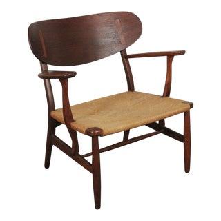 1950s Vintage Hans Wegner for Carl Hansen & Son Lounge Chair For Sale