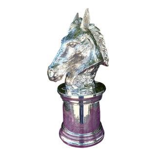 Franco Lapini Horse Head Silverplate Ice Bucket for Asprey of London For Sale