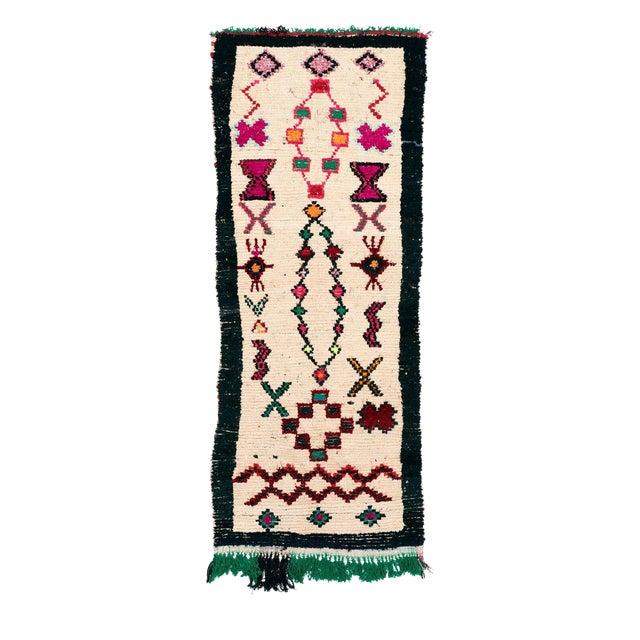 Vintage Azilal Handwoven Rug - 3′7″ × 8′8″ - Image 1 of 2