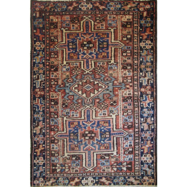 "Persian Karaje Rug - 1'10"" X 2'9"" - Image 1 of 5"