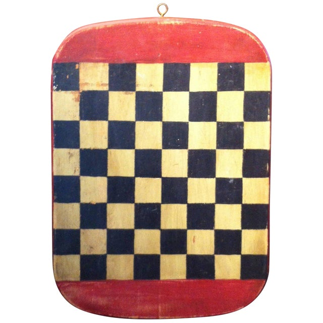 Folky Early 20th Century Original Painted Gameboard - Image 1 of 4
