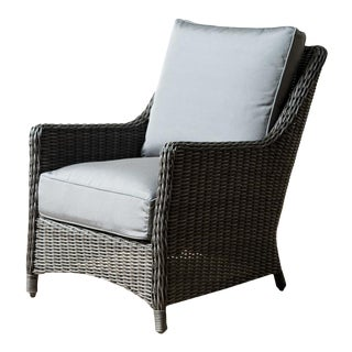 Sea Woven Charcoal Finish Outdoor Chair For Sale