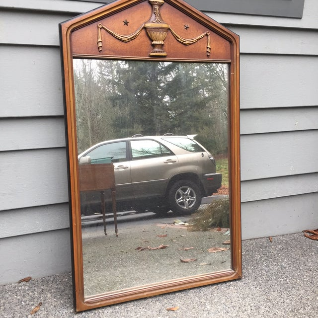 Vintage Wooden Mirrors - A Pair - Image 3 of 5