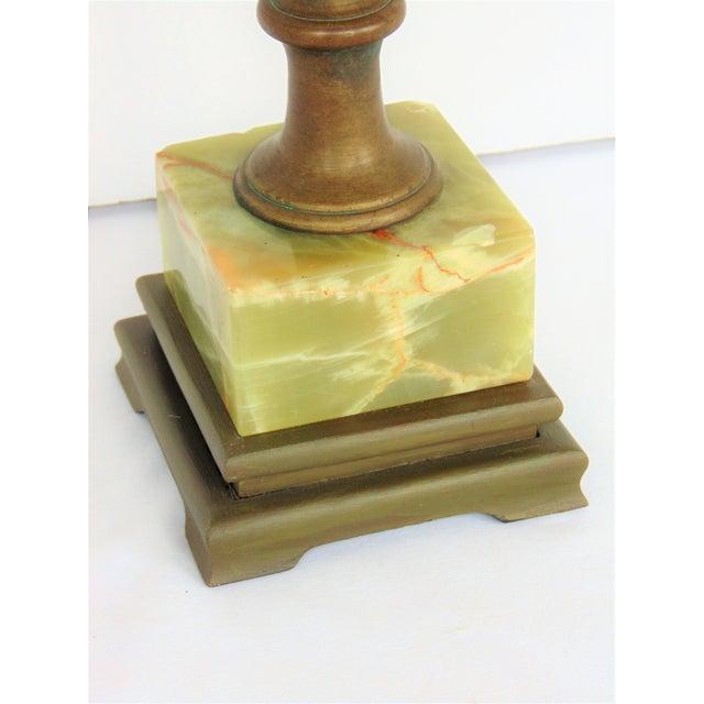 Vintage Green Onyx Lamp Chairish