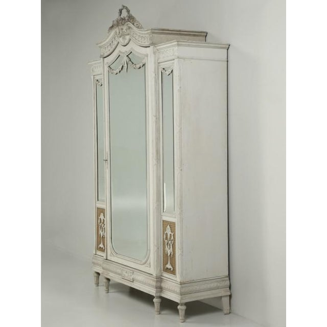 Antique French Original Painted Armoire, Circa 1900 For Sale - Image 4 of 12
