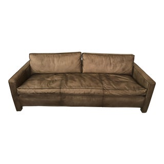 Rustic Leather Sofa For Sale