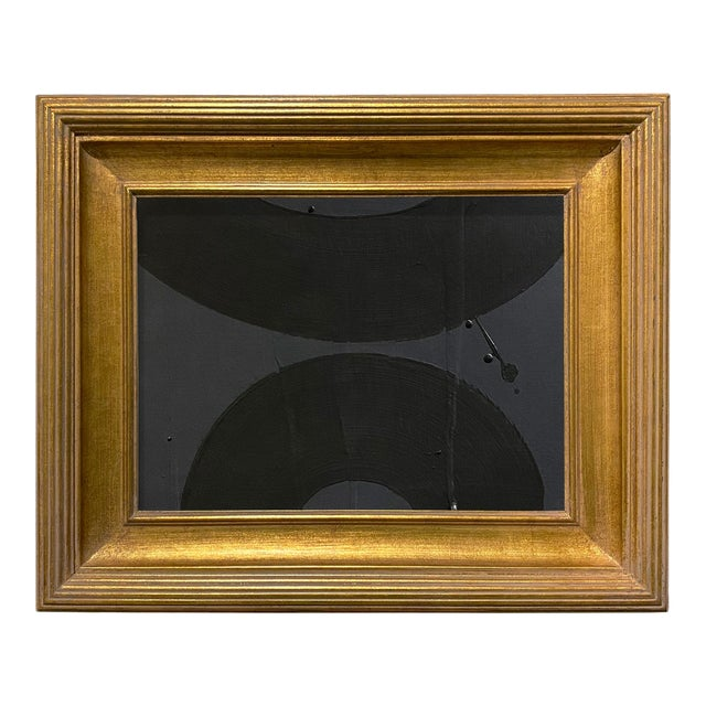 Ron Giusti Mini Wagasa Charcoal and Black Acrylic Painting, Framed For Sale
