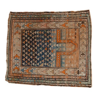 "Vintage Caucasian Square Rug - 3'5"" X 3'8"" For Sale"
