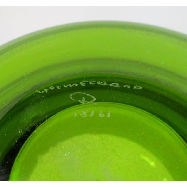 1960s Holmegaard Green Glass Vase For Sale - Image 5 of 6