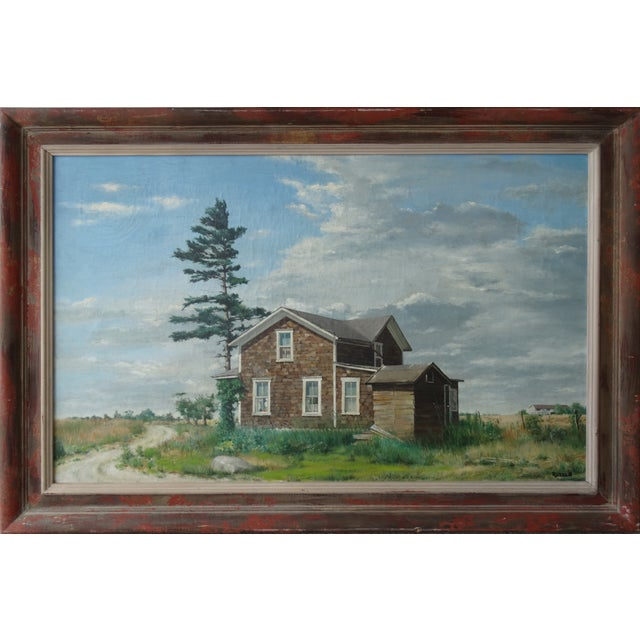 Vintage Landscpe Oil Painting by Russell - Image 1 of 10