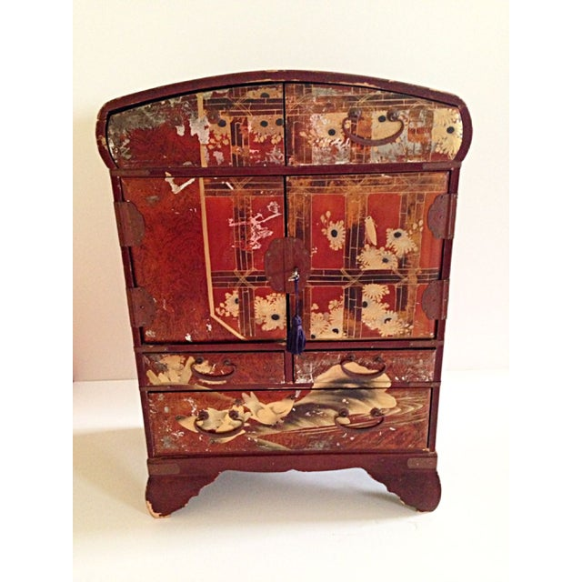 Antique Japanese Jewelry Cabinet - Image 2 of 8
