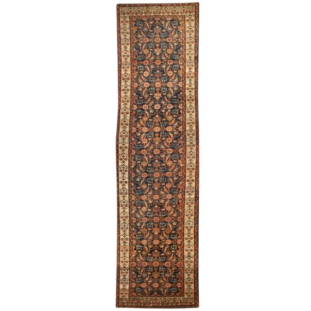 """Early 20th Century Persian Malayer Runner - 33"""" x 120"""" - Image 1 of 5"""