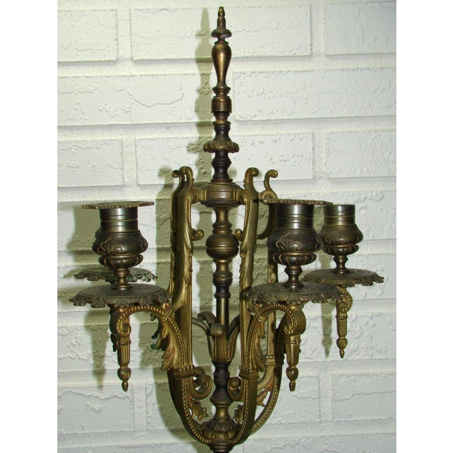 Huge Antique Victorian Neoclassical Bronze & Marble Candelabras - a Pair - Image 6 of 11