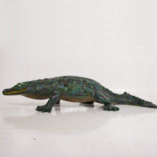 Whimsical Sergio Bustamante Papier Mâché Crocodile Sculpture, Mexico, 1970s For Sale - Image 12 of 12