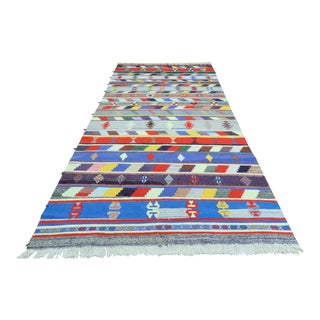 "Vintage Turkish Kilim Rug-5'8'x11'10"" For Sale"
