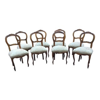 Antique Balloon Back Chairs - Set of 8