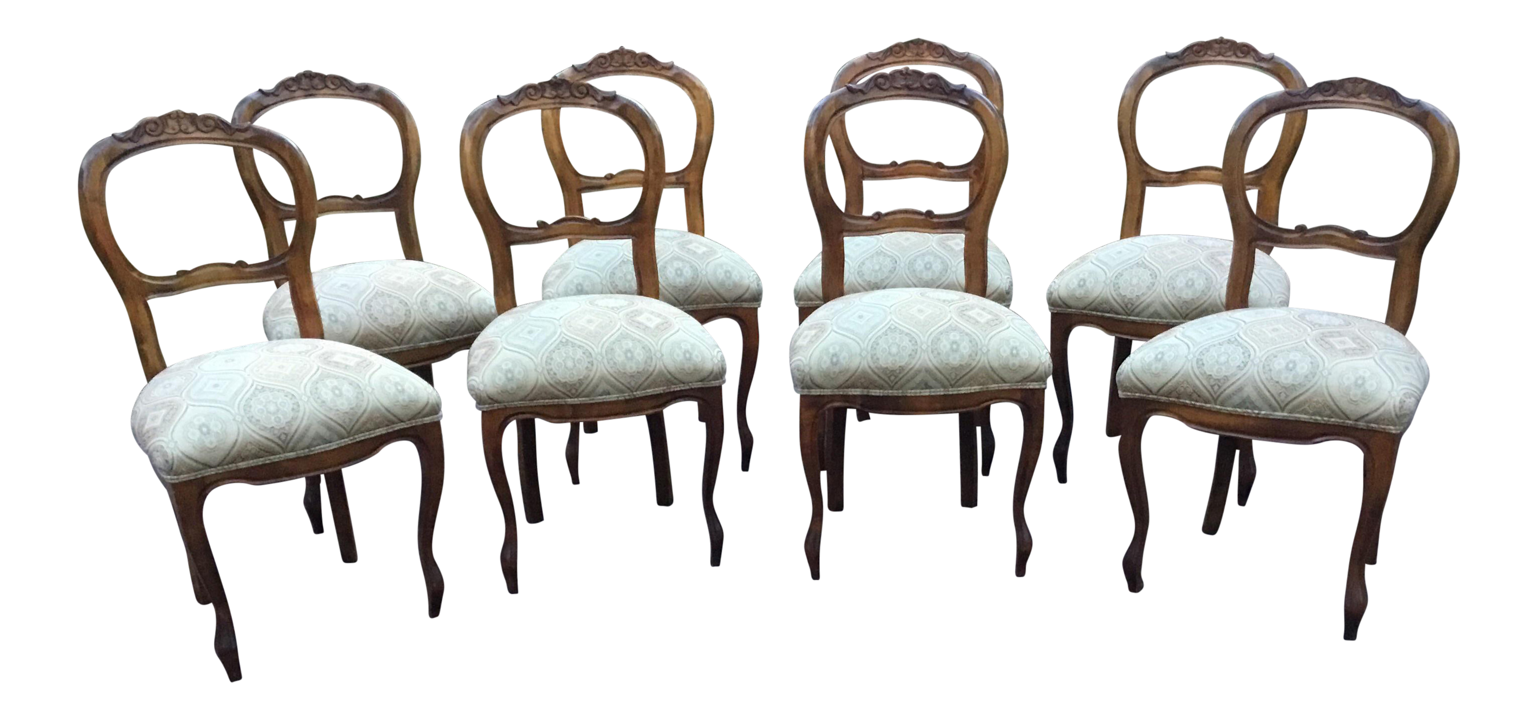 Antique Balloon Back Chairs   Set Of 8