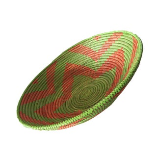 Handmade Woven Senegalese Wolof Basket For Sale