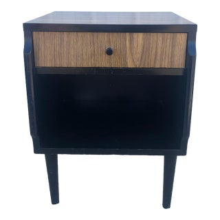 Mid Century Single Drawer Nightstand by Kent Coffey Teakway For Sale