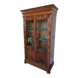 Louis Phillippe Bookcase Vitrine For Sale