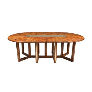 Gabriella Crespi Style Adjustable Dining Table in Rattan - 1970s For Sale