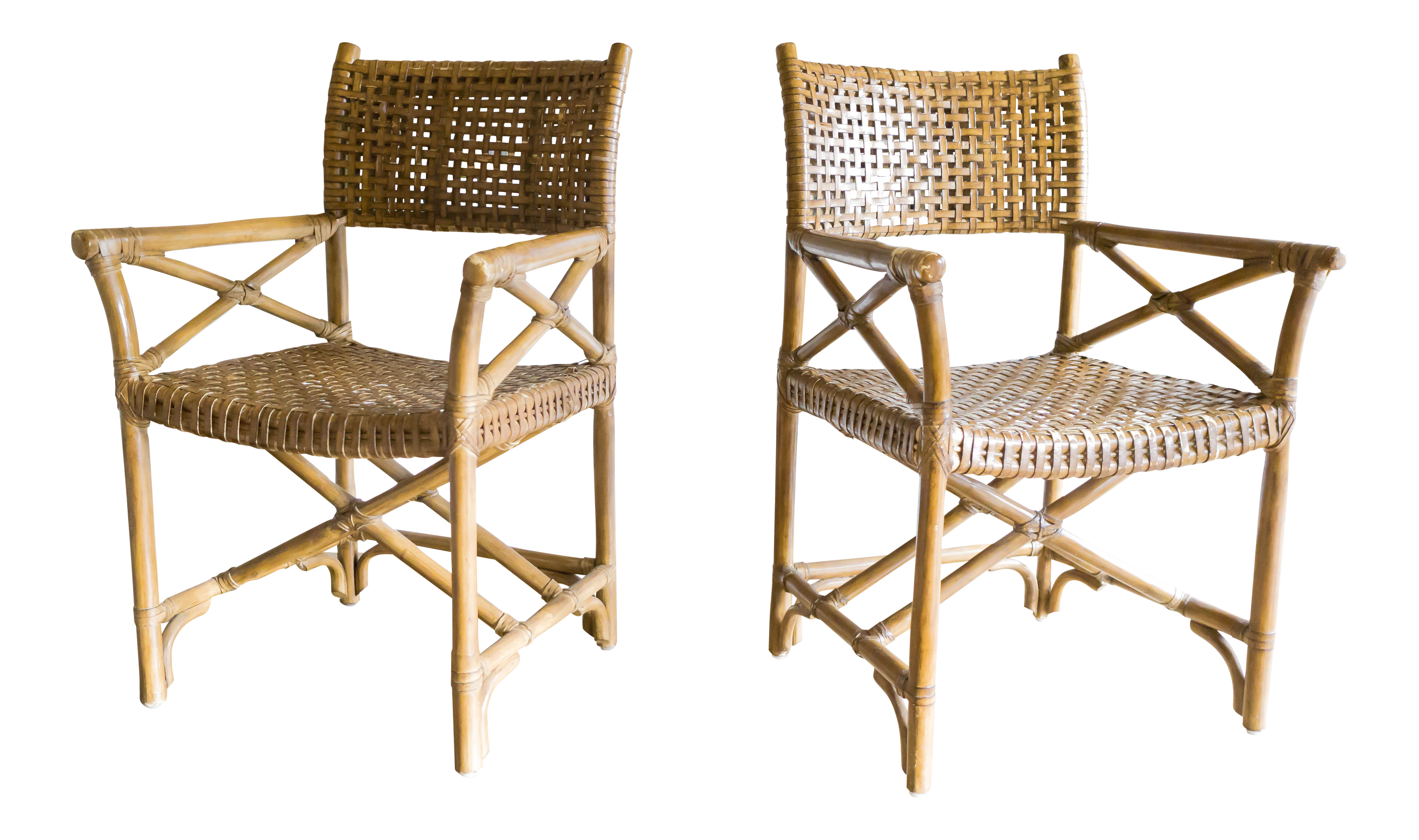 mcguire furniture company laced. McGuire Laced Rawhide Armchairs - Set Of 4 Image 2 6 Mcguire Furniture Company