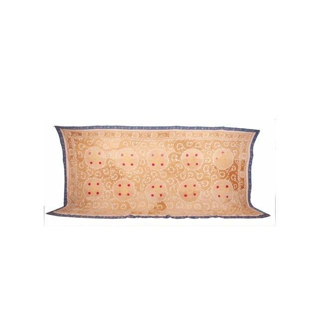 Rare Large Neutral Mid 20th Century Samarkand Suzani Textile. Uzbek Bukhara Taskent Khiva. Great condition. Purchased in...