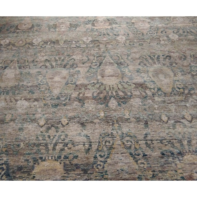 """Transitional Hand-Knotted Luxury Rug - 8'11"""" x 12' - Image 6 of 6"""