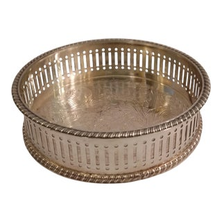 Reed and Barton Silver Plate Wine Coaster For Sale