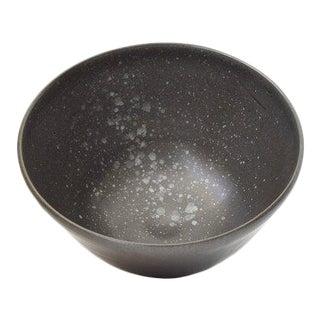 "Contemporary Handmade Black ""Splatter"" Soup/Ramen Bowl by FisheyeCeramics For Sale"