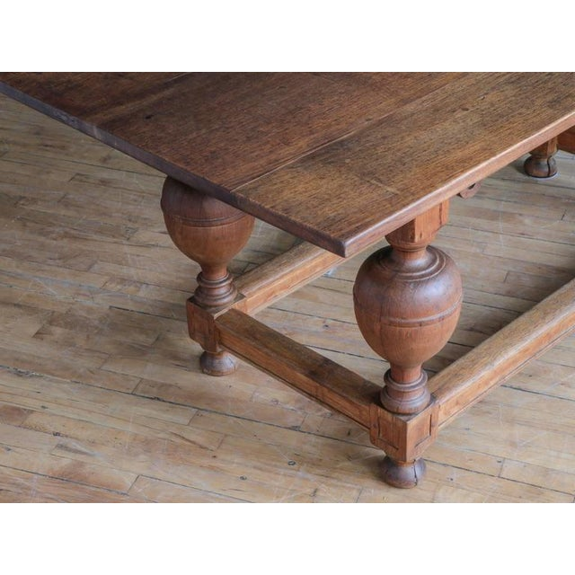 Antique Jacobean Style Oak Refectory Table For Sale In Boston - Image 6 of 7